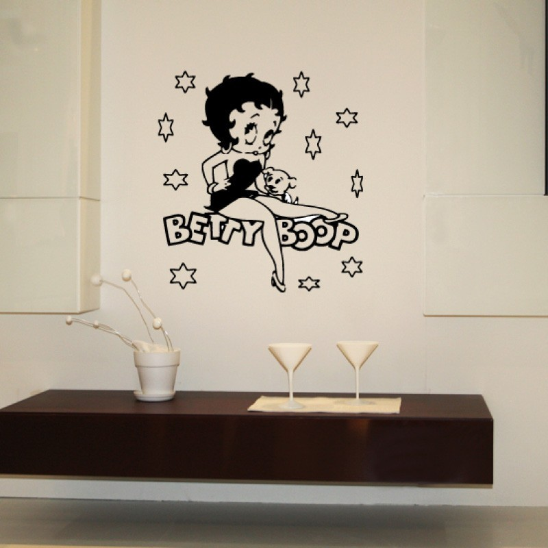 Adesivo wall stickers comic fumetto - Betty Boop - 0066