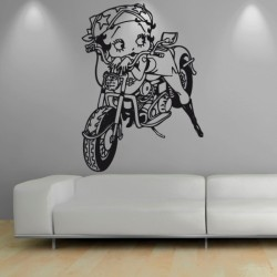 Adesivo wall stickers comic fumetto - Betty Boop - 0096