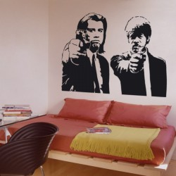 Adesivo wall stickers cinema - Pulp Fiction John Travolta Samuel Jackson - 0072