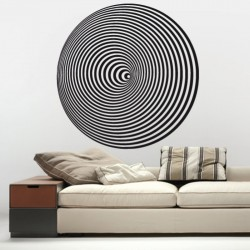 Adesivo wall stickers astratto - Cerchi optical art - 0117