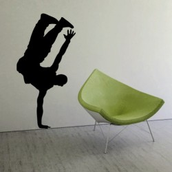 Adesivo wall stickers Silhouette - Hip Pop ballo musica - 0149