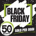 Poster saldi in carta vetrine negozi - Saldi black friday nero verde pennellata